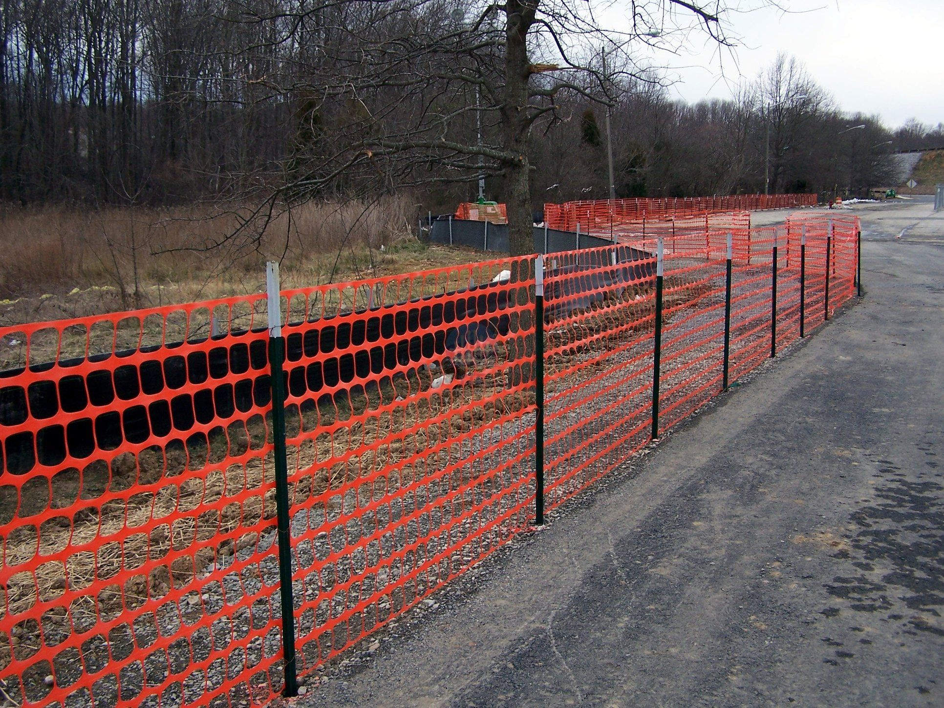 Orange Plastic Snow Fence